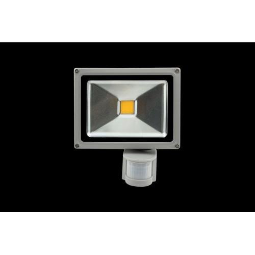 Прожектор светодиодный с датчиком движения 6500К Холодный белыйK FL-COB-20-CW-S