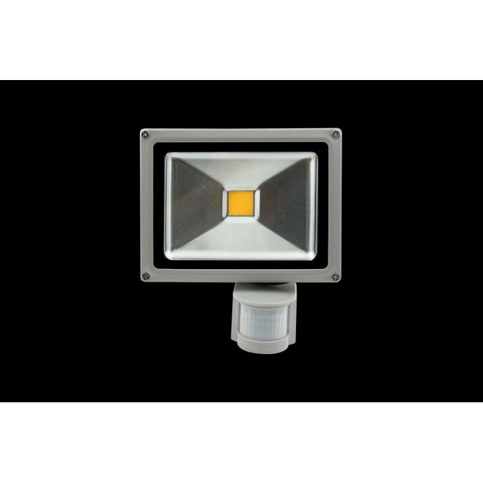 1Прожектор светодиодный с датчиком движения 6500К Холодный белыйK FL-COB-20-CW-S