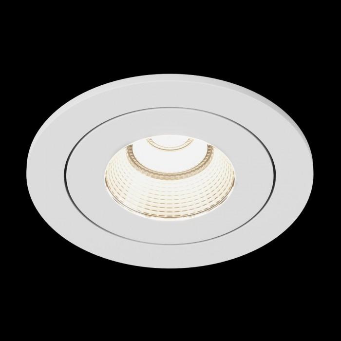 2Светильник светодиодный потолочный встраиваемый наклонный, серия FA, белый, 7,5Вт, IP54, Теплый белый (3000К)