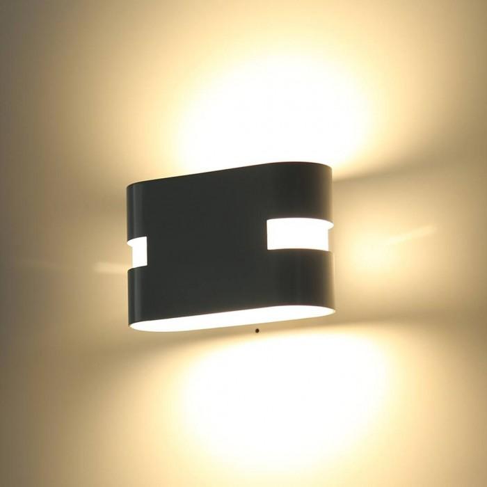 1Бра декоративное RAZOR HR, черный, 6Вт, 3000K, IP20, GW-1556-6-BL-WW