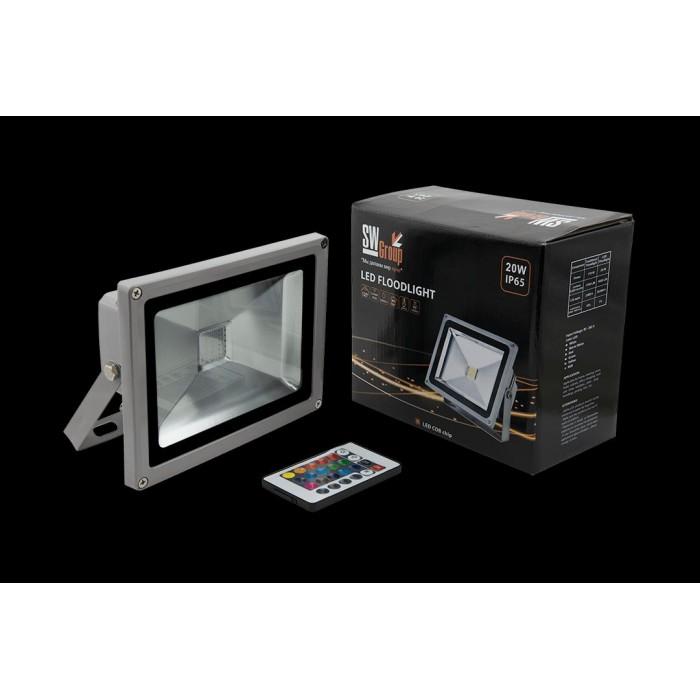 1Прожектор светодиодный RGB FL-COB-20-RGB