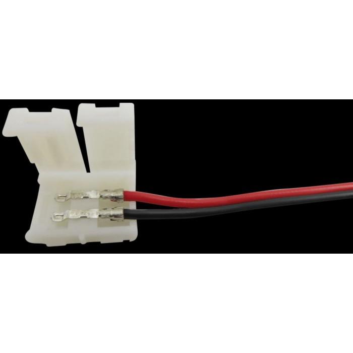 2Коннектор для ленты 3528 для подключения к БП (ширина 8 мм,длина провода 15 см )