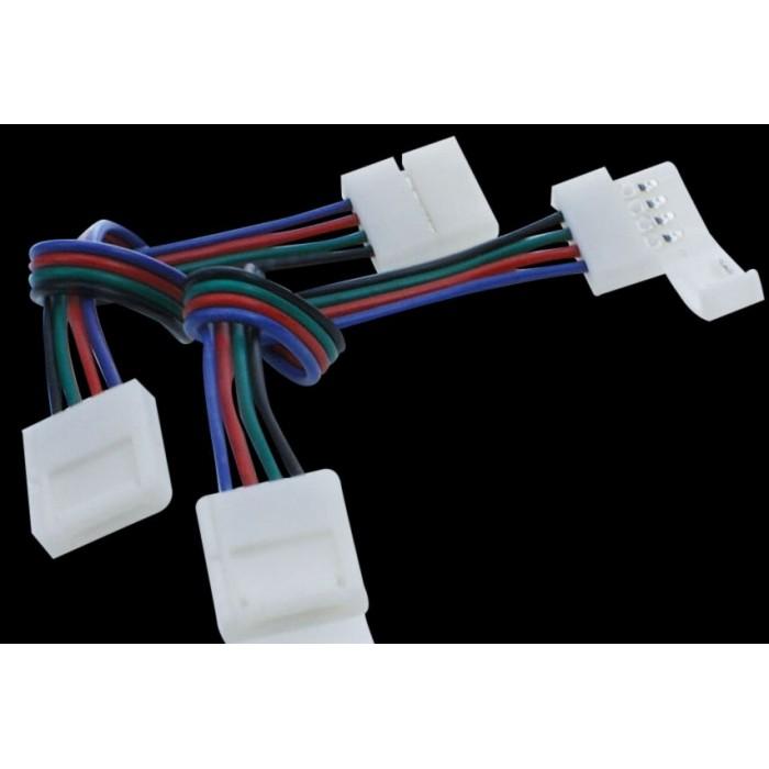 2Коннектор для ленты RGB двуxсторонний (ширина 10 мм,длина провода 15 см )