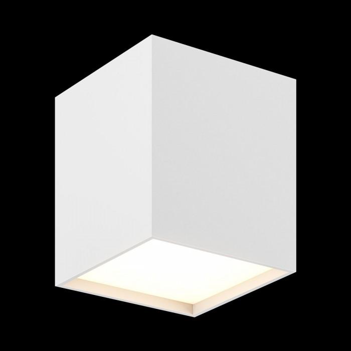 1Светильник светодиодный потолочный накладной, серия GW, белый, 10Вт, IP20, Теплый белый (3000К)