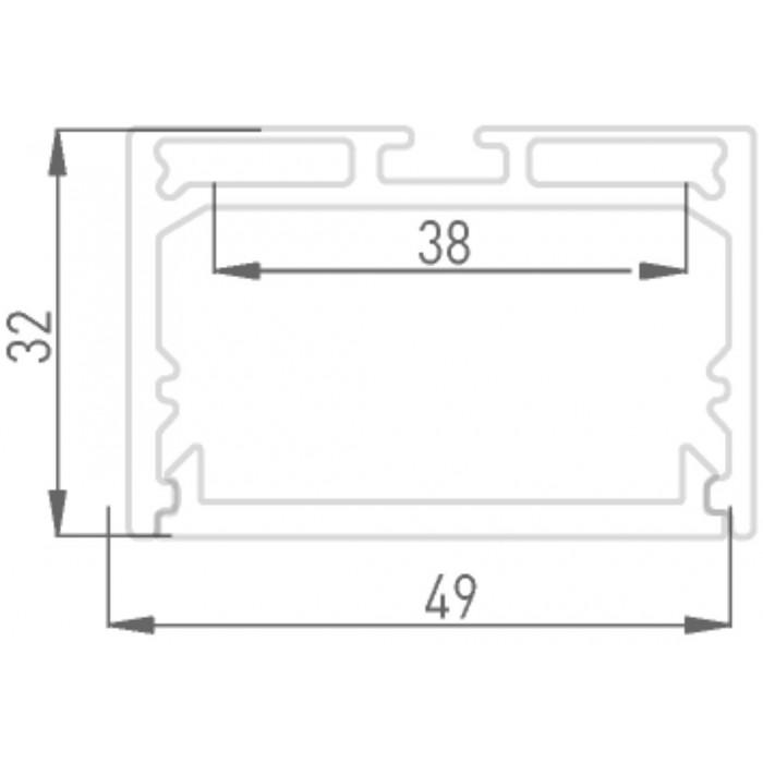 2Подвесной/накладной алюминиевый профиль LS.4932