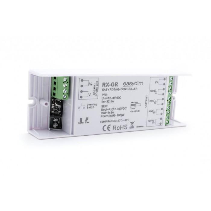 2Универсальный приемник-контроллер увеличенной мощности RX-GR для светодиодных лент RGB, RGB+W, MIX