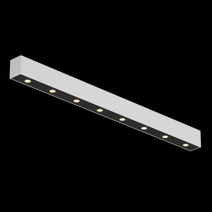 1Светильник светодиодный потолочный накладной, серия FA, черно-белый, 10,2Вт, IP20, Теплый белый (3000К)