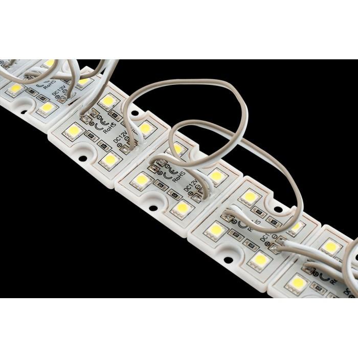 1Модуль светодиодый SWG, 4LED, 1,12Вт, 12В, Холодный белый, провод 7,5см