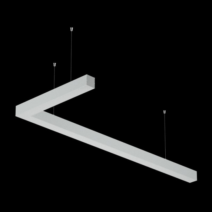 2Светильники из профиля L-Type-5050-0903-32-NW: Профиль LS 5050, Лента 4x DSG 2835 WW 280L-V24-IP33, 700LED, 26W/m, LUX, подвесы. Без блока питания.