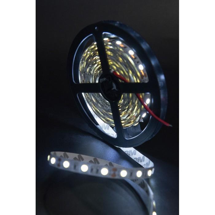 2Лента светодиодная эконом 5050, 60 LED/м, 14,4 Вт/м, 12В, IP20, Цвет: Холодный белый