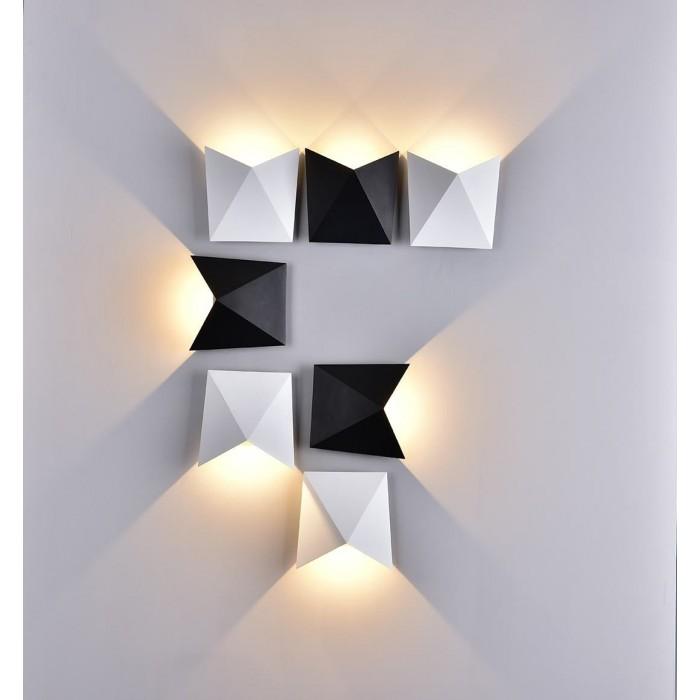 2Бра декоративное TANGO, черный, 7Вт, 3000K, IP54, GW-A816-7-BL-WW