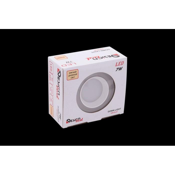2Светильник светодиодный потолочный встраиваемый, серия DW-DL, белый, 7Вт, IP20, Нейтральный белый (4200К)