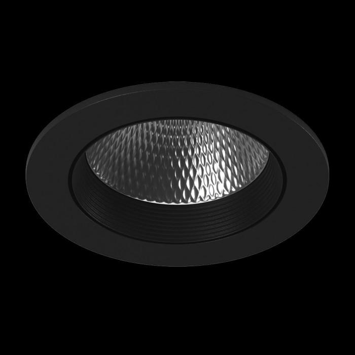1Светильник светодиодный потолочный встраиваемый наклонный, серия DL-KZ, черный, 12Вт, IP20, Теплый белый (3000К)