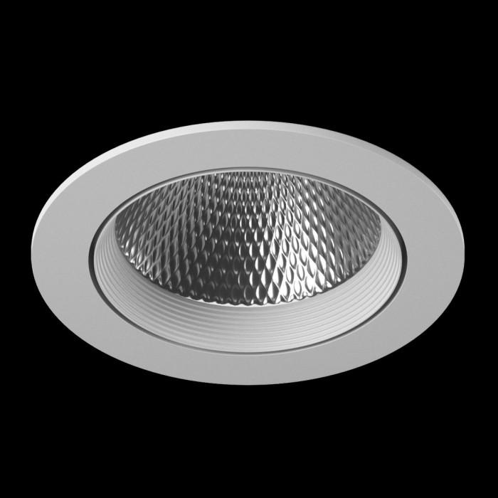 1Светильник светодиодный потолочный встраиваемый наклонный, серия DL-KZ, белый, 18Вт, IP20, Теплый белый (3000К)