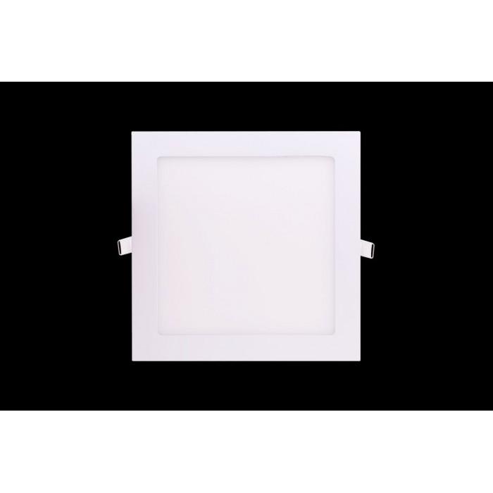 2Светильник светодиодный потолочный встраиваемый PL, Белый, Пластик + алюминий, Теплый белый (2700-3000K), 18Вт, IP20