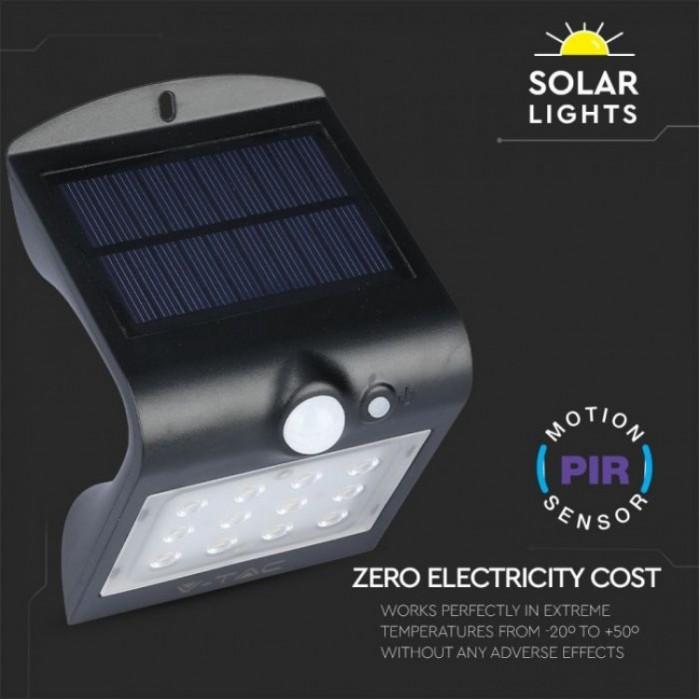 1 SKU-8277 Светильник с датчиком движения на солнечной батарее V-TAC