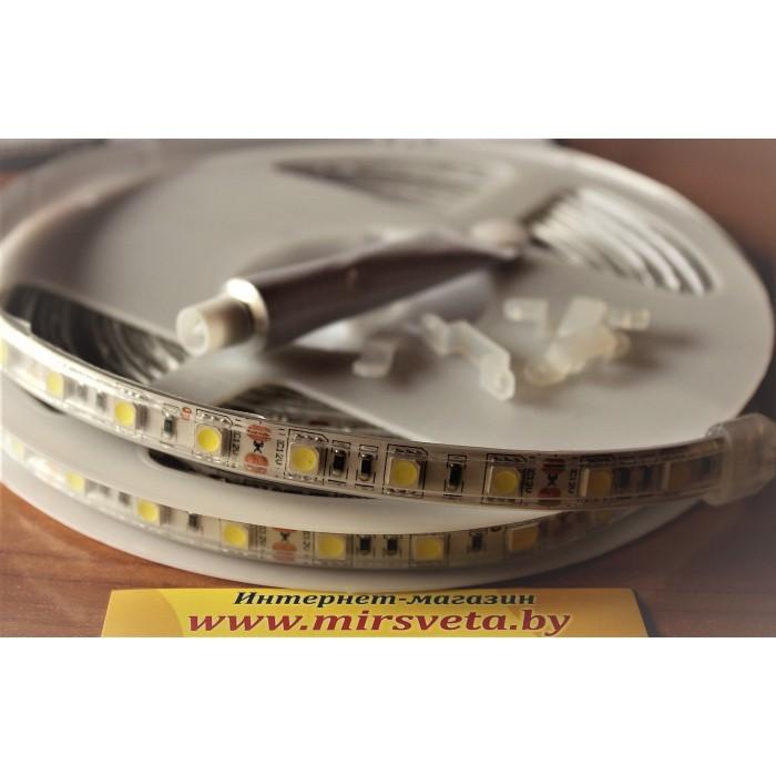 1Светодиодная лента белая V-TAC 9,6 ВТ/М 12V IP655 метров